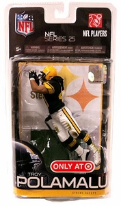 McFarlane Toys NFL Sports Picks Series 25 Exclusive Action Figure Troy Polamalu (Pittsburgh Steelers) Black Jersey Retro Uniform