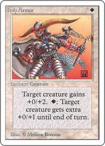 Magic the Gathering Unlimited Edition Single Card Common Holy Armor
