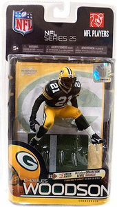 McFarlane Toys NFL Sports Picks Series 25 Action Figure Charles Woodson (Green Bay Packers) Green Jersey Bronze Collector Level Chase Only 3,000 Made!