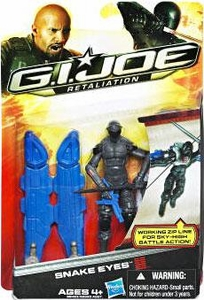 GI Joe Retaliation Movie 3.75 Inch Action Figure Snake Eyes [Working Zip Line For Sky High Battle!]