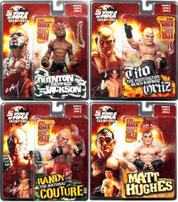 Round 5 World of MMA Champions UFC Series 1 Set of 4 Action Figures [Hughes, Ortiz, Couture & Jackson]