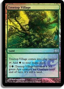 Magic the Gathering Other Promo Card Treetop Village [Summer of Magic Promo]