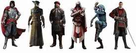 Assassin's Creed Brotherhood Gamestars Set of 6 Action Figures [Ezio, Cesare, Leonardo, Machiavelli, Doctor & Harlequin]