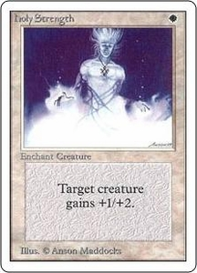 Magic the Gathering Unlimited Edition Single Card Common Holy Strength