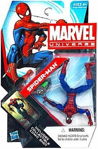 Marvel Universe 3 3/4 Inch Series 18 Action Figure #7 Spider-Man {Peter Parker} [Upside Down: Blue & Red Costume]