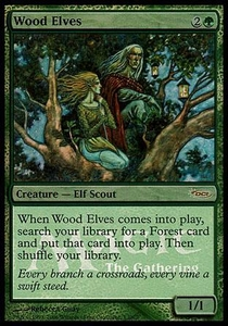 Magic the Gathering Other Promo Card Wood Elves [Euro Promo]