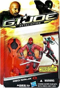 GI Joe Retaliation Movie 3.75 Inch Action Figure Red Ninja [Working Zip Line For Sky High Battle!]