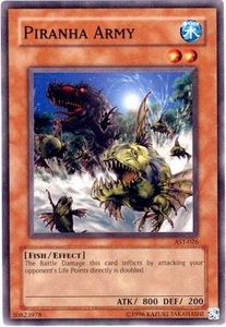 YuGiOh Ancient Sanctuary Single Card Common AST-026 Piranha Army