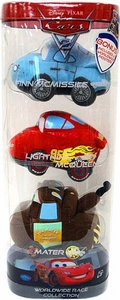 Disney / Pixar CARS 2 Movie Worldwide Race Collection Plush 3-Pack [Finn, McQueen & Mater]