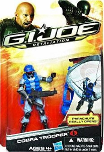 GI Joe Retaliation Movie 3.75 Inch Action Figure Cobra Trooper [Parachute Really Opens!]