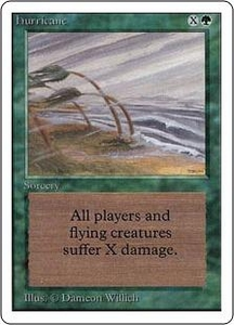 Magic the Gathering Unlimited Edition Single Card Uncommon Hurricane