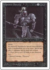 Magic the Gathering Unlimited Edition Single Card Uncommon Hypnotic Specter