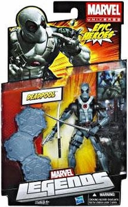Marvel Legends 2012 Series 3 Action Figure Deadpool [X-Force Black & Grey Suit]