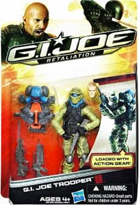 GI Joe Retaliation Movie 3.75 Inch Action Figure G.I. Joe Trooper [Loaded with Action Gear!]