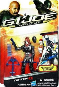 GI Joe Retaliation Movie 3.75 Inch Action Figure Zartan [Switch Heads to Disguise Zartan!]