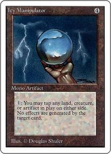 Magic the Gathering Unlimited Edition Single Card Uncommon Icy Manipulator Played Condition Not Mint