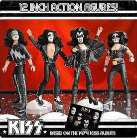 KISS Retro 12 Inch DELUXE Series 2 Set of 4 Poseable Action Figures [Starchild, Spaceman, Catman & Demon]