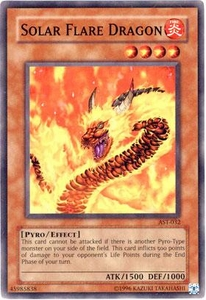 YuGiOh Ancient Sanctuary Single Card Common AST-032 Solar Flare Dragon
