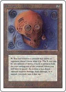 Magic the Gathering Unlimited Edition Single Card Rare Illusionary Mask