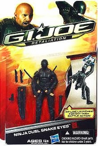 GI Joe Retaliation Movie 3.75 Inch Action Figure Ninja Duel Snake Eyes