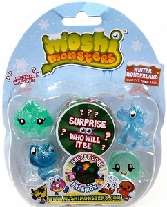 Moshi Monsters Moshlings Winter Wonderland Mini Figure 5-Pack [Includes 1 Free Rox Secret Code!]