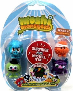 Moshi Monsters Moshlings Series 4 Mini Figure 5-Pack [Includes 1 Free Rox Secret Code!]