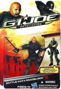 GI Joe Retaliation Movie 3.75 Inch Action Figure Battle Kata Roadblock [The Rock!]