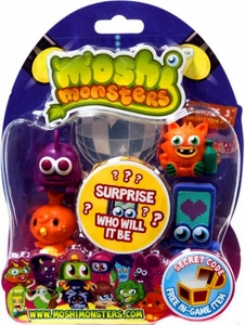 Moshi Monsters Moshlings Series 3 Mini Figure 5-Pack [Includes 1 Virtual Prize Code!]
