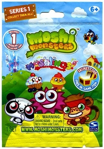 Moshi Monsters Moshlings Series 1 Mini Figure Single Pack [Includes 1 Virtual Prize Code!]