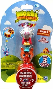 Moshi Monsters Moshlings Series 1 Mini Figure 3-Pack [Includes 1 Virtual Prize Code!]