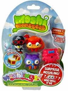 Moshi Monsters Moshlings Series 1 Mini Figure 5-Pack [Includes 1 Virtual Prize Code!]