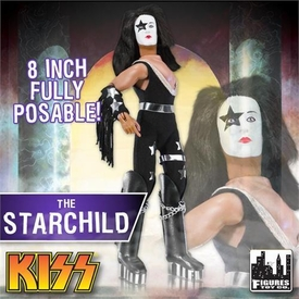 KISS Retro 8 Inch Poseable Action Figure Series 1 The Starchild