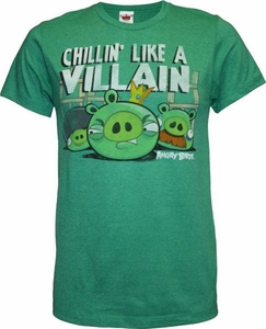 Angry Birds Adult Printed T-Shirt Chillin Like a Villain