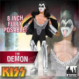KISS Retro 8 Inch Poseable Action Figure Series 1 The Demon