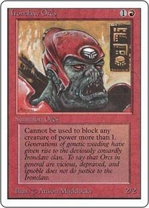 Magic the Gathering Unlimited Edition Single Card Common Ironclaw Orcs