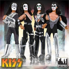 KISS Retro Series 1 Set of 4 Poseable 8 Inch Action Figures