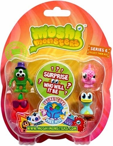 Moshi Monsters Moshlings Series 6 Mini Figure 5-Pack [Includes 1 Free Rox Secret Code!]