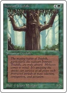 Magic the Gathering Unlimited Edition Single Card Common Ironroot Treefolk