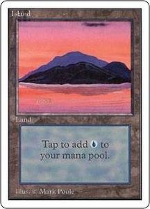 Magic the Gathering Unlimited Edition Single Card Land Island [Random Artwork]