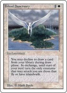 Magic the Gathering Unlimited Edition Single Card Rare Island Sanctuary