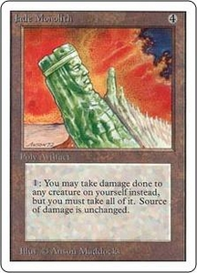 Magic the Gathering Unlimited Edition Single Card Rare Jade Monolith