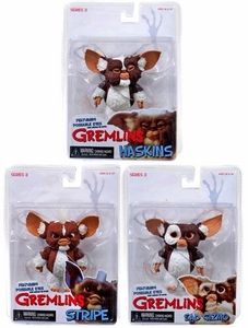 NECA Gremlins Mogwais Series 3 Set of 3 Action Figures [Gizmo, Haskins & Stripe]