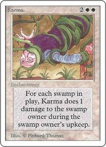 Magic the Gathering Unlimited Edition Single Card Uncommon Karma
