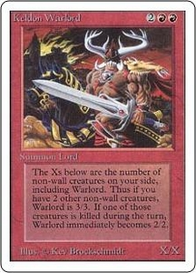 Magic the Gathering Unlimited Edition Single Card Uncommon Keldon Warlord