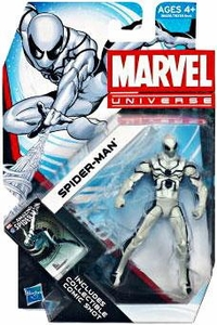 Marvel Universe 3 3/4 Inch Series 19 Action Figure #14 Spider-Man [White & Black Costume]