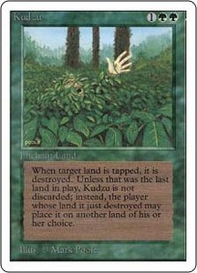 Magic the Gathering Unlimited Edition Single Card Rare Kudzu
