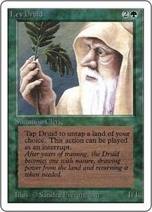 Magic the Gathering Unlimited Edition Single Card Uncommon Ley Druid