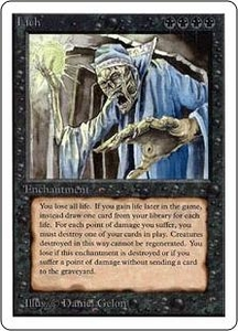 Magic the Gathering Unlimited Edition Single Card Rare Lich
