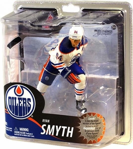 McFarlane Toys NHL Sports Picks Series 30 Action Figure Ryan Smyth (Edmonton Oilers) White Jersey Silver Collector Level Chase Only 1,000 Made!