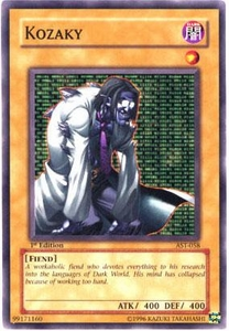 YuGiOh Ancient Sanctuary Single Card Common AST-058 Kozaky